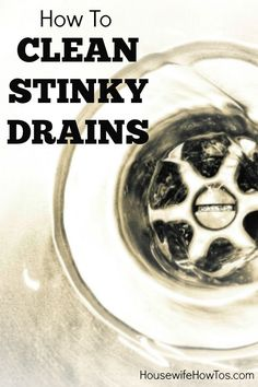 Kitchen Sinks Ideas Is your kitchen sink giving off odors? Does your bathroom sink or shower drain smell foul? Here's how to get the funk out and keep your drains flowing well. Sink Drain Smell, Shower Drain Smell, Kitchen Sink Smell, Cleaning Sink Drains, Bathroom Sink Drain, Bathroom Cleaning, Kitchen Sinks, Smelly Shower Drain, Sink Drain Cleaner