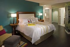 Love the guest rooms at Asheville's Hotel Indigo!
