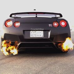 Burn Baby Burn - Nissan GTR - Click on it to enter XCAR's Japanese Car Show Ticket Giveaway