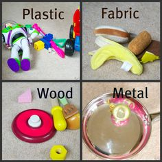 Great ideas and resource for teaching about materials such as plastic, fabric, wood and metal from science sparks repined by Charlotte's Clips http://pinterest.com/kindkids/sensual-science-charlotte-s-clips/ k