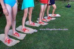 Big foot, juego para hacer con niños www.thingsofmother.com