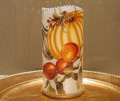 Thanksgiving LED Pillar Candle With Pumpkins, Gourds, Fall Leaves, Apples And More by DontForgetTheFlowers on Etsy Fall Candles, Flameless Candles, Best Candles, Pillar Candles, Wrapping Paper Bows, Themes Photo, Wedding Gifts For Bride, Thanksgiving Centerpieces, Just Because Gifts