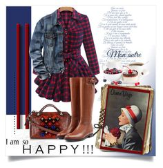 """""""Brunch With Grams"""" by queenvirgo on Polyvore featuring Lost & Found, Gap, Fendi and Burberry"""