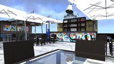 Summer terrace diy bar