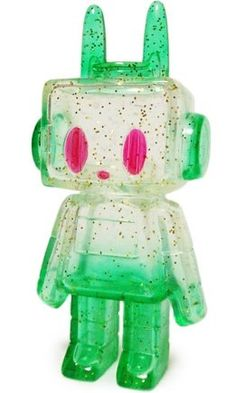 Nut - Clear Green Lamé figure by P.P.Pudding (Gen Kitajima), produced by P.P.Pudding. Front view.