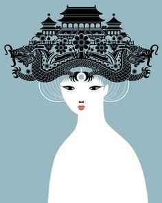 illustration+letterpress: Turandot {illustration}