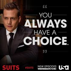 Do you always have a choice - Harvey specter - suits - #suits #harvey