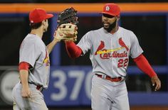 St. Louis Cardinals Team Photos - ESPN St. Louis Cardinals outfielders Randal Grichuk, left, and Jason Heyward slap gloves after the Cardinals beat the New York Mets 9-0 in a baseball game Wednesday, May 20, 2015, in New York. (AP Photo/Julie Jacobson)