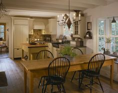 English Country Timber Frame - traditional - Kitchen - Portland Maine - Houses & Barns by John Libby