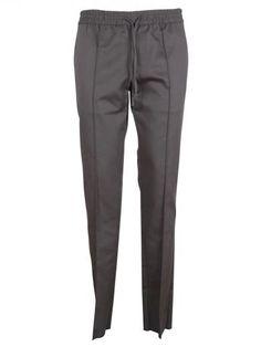 VALENTINO Dark Grey Elastic Band Trousers. #valentino #cloth #trousers