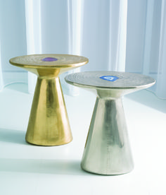 Cosmos Table in brass and nickel https://www.studioa-home.com