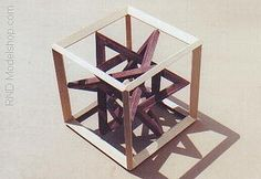 Wood Cube & 4 Triangles by ~RND Modelshop, via Flickr