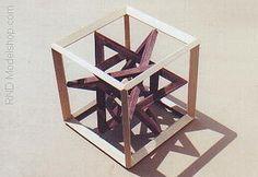 Wood Cube & 4 Triangles by ~RND Modelshop, via Flickr