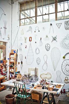 handmade wall decorations in minimalist style