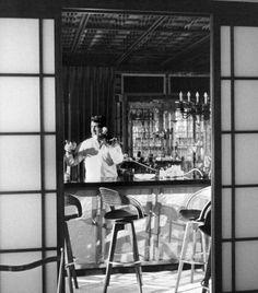 Dean Martin at Frank Sinatra's home - undated - web source -MReno