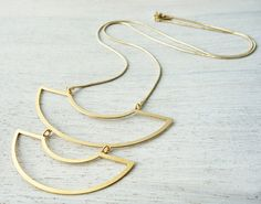 Agnes Necklace, a geometric statment necklace inspired by Scandinavian design, by Shlomit Ofir