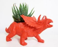 Love this dinosaur planter!