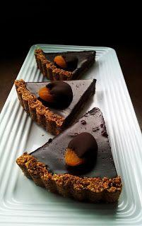 Apricot & Salt Chocolate Tart #glutenfree #grainfree #paleo