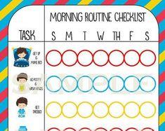 Etsy :: Your place to buy and sell all things handmade Morning Routine Checklist, Bedtime Routine, Bedtime Chart, How To Make Bed, How To Apply, Toddler Reward Chart, Routine Printable, Routine Chart, Evening Routine