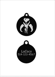 Star War Boba Fett Crest/Quiet dog tag Plastic pet by LaCoco725
