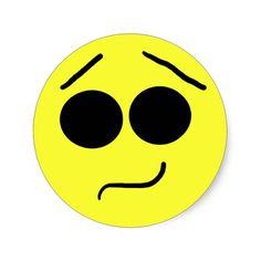 Unsure Smiley face sticker