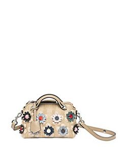 Fendi - By The Way Small Floral Studded Boston Bag