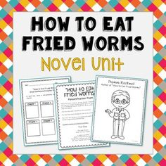 how to eat fried worms worksheets