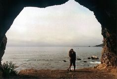 in a cave