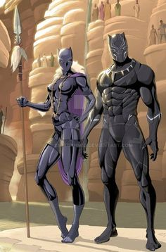 Black panther y shuri (marvel) Marvel Comic Universe, Marvel Dc Comics, Marvel Heroes, Marvel Vs, Black Panther Storm, Black Panther Comic, Vinyl Pants, Wakanda Marvel, Avengers Imagines