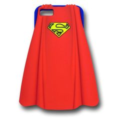 Coque iPhone 5 Superman en silicone bleu et cape rouge - 17,99 € - #Logostore