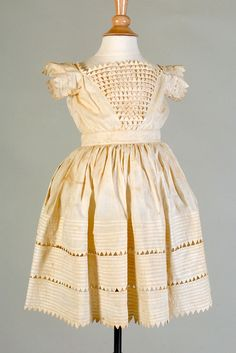 Child's cotton dress. American, ca. 1840s, KSUM 2007.23.2.