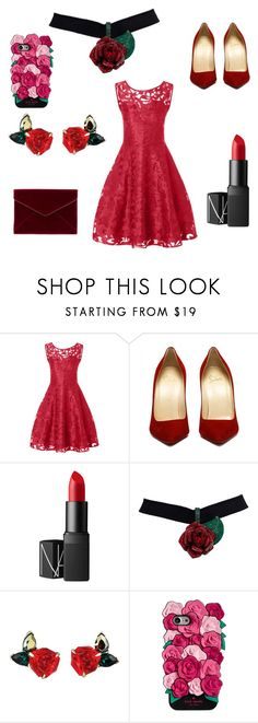 """""""rose cocktail"""" by dadi13 ❤ liked on Polyvore featuring NARS Cosmetics, Kate Spade and Rebecca Minkoff"""
