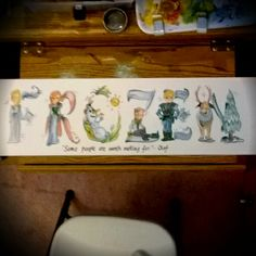 #frozen name painting. Will upload higher res to facebook later. #elsa #anna #olaf #kristoff  #disney