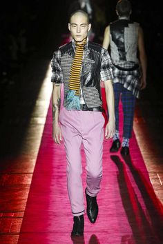 Where last season the designer went more Ziggy Stardust, this time he put houndstooth and leather with glitter and shine and leopard to make for an anarchic Teddy Boy. [CONTINUE READING...]