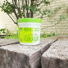 Eco Cocktail Olive & Shea Butter Styling Creme: A) extended hold with no flaking or stiffness  B)instant all day conditioning and damage repair  C)treats coarsest locks, adding healthy luster to hair