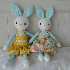 Soft toys, Dressed Rabbits | Felt