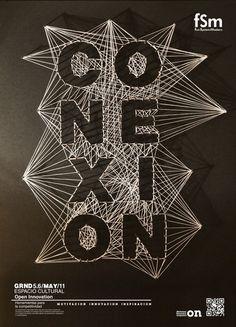 Poster Typography Open Innovation by Koke Romero, via Behance Typography Love, Creative Typography, Typography Letters, Graphic Design Typography, Lettering, Typography Images, Logo Images, Graphisches Design, Layout Design