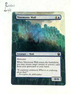 Mnemonic Wall - MTG Alter - Revelen's Light Altered Art Magic Card