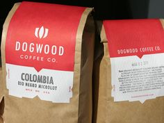 Dogwood Cofee Co. packaging - Design by Holmberg Design - Print by Studio On Fire