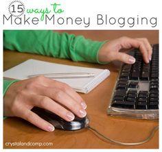 15 ways to make money blogging