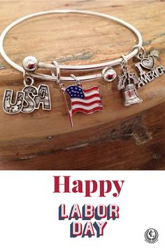 This Usa Theme Expandable Hoop Bracelet Is Made By Clic Legacy Hy Labor Day