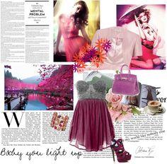 """Purple love"" by alessiia ❤ liked on Polyvore"