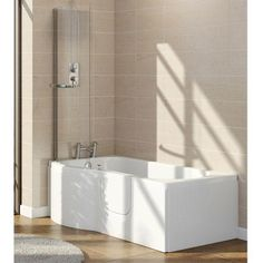 Lockwood LH Easy Access 1675mm P Shaped Bath Inc. Screen   Front Panel