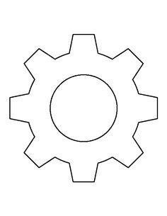 Striking image with printable gears