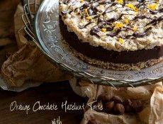 Orange Chocolate Hazelnut Tort with Hazelnut Caramel Topping