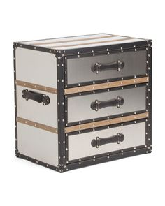 3+Drawer+Stainless+Steel+Trunk