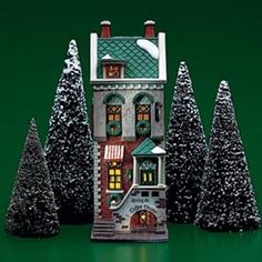 Spring Street Coffee House (Front View), Christmas in the City (#1653)