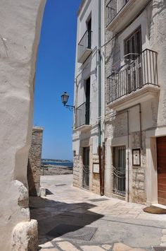 Street in Polignano a Mare, Puglia, Italy.  What a beautiful place it is.