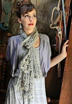Cobweb Scarf - Free Crochet Pattern for Double-Ended Crochet Hook - Crochet on the Double