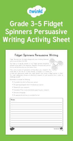 new ks2 fidget spinners persuasive writing activity sheet i 39 m a teacher persuasive. Black Bedroom Furniture Sets. Home Design Ideas